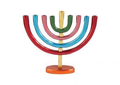 Hanukkah Menorah by Yair Emanuel - Cones Cups Silver