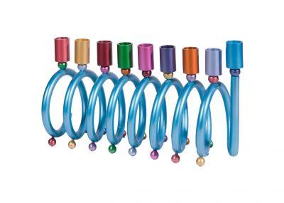 Hanukkah Menorah by Yair Emanuel - Blue Cones Cups