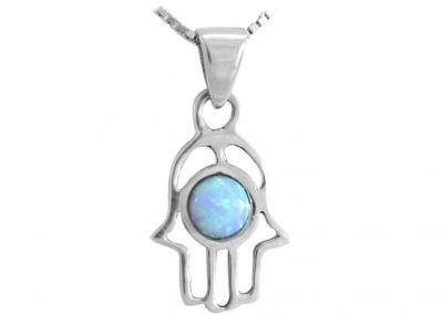 Delightful Opal Hear, O Israel Pendant