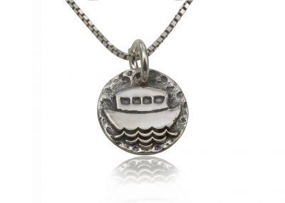 925 Sterling Silver Religious Pendant - Noah's Ark